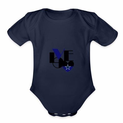 Cowboys Fan Love - Organic Short Sleeve Baby Bodysuit