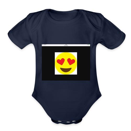 Love Heart - Organic Short Sleeve Baby Bodysuit