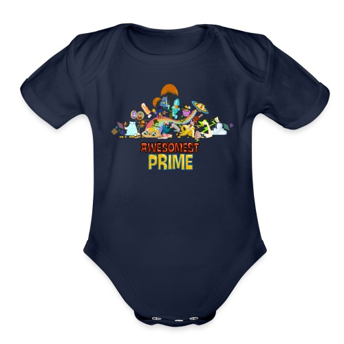 AWESOMEST PRIME LOGO - Organic Short Sleeve Baby Bodysuit