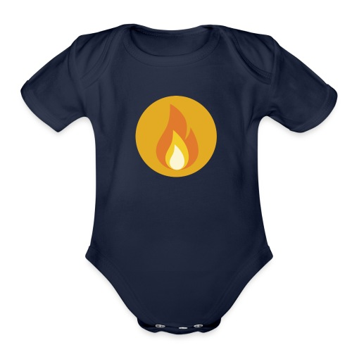 Flame (For cases and Cups) - Organic Short Sleeve Baby Bodysuit