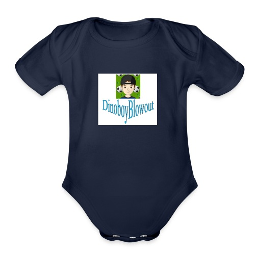 Dinoboy Blowout Logo - Organic Short Sleeve Baby Bodysuit