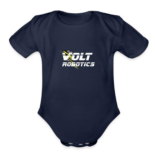 VOLT Robotics White Logo - Organic Short Sleeve Baby Bodysuit