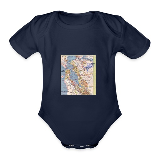 Phillips 66 Zodiac Killer Map June 26 - Organic Short Sleeve Baby Bodysuit