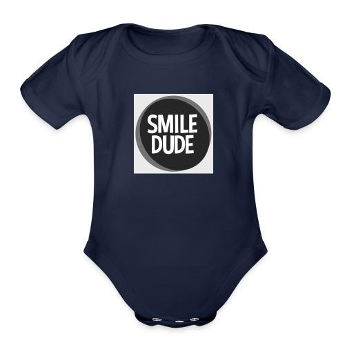 smiledude - Organic Short Sleeve Baby Bodysuit