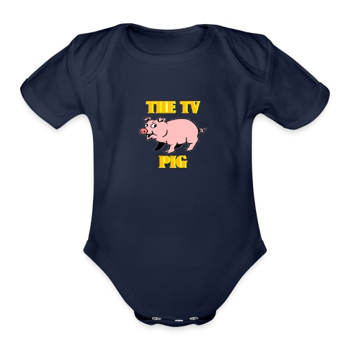 Official TV Pig Merchandise - Organic Short Sleeve Baby Bodysuit