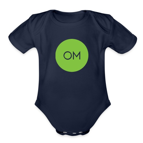 om merch - Organic Short Sleeve Baby Bodysuit