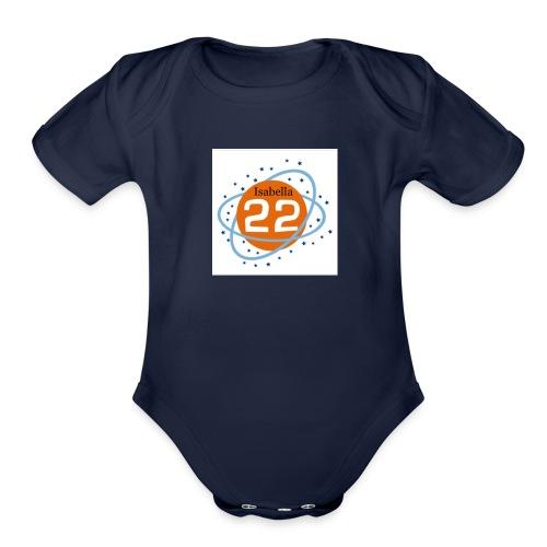 Isabella22 logo - Organic Short Sleeve Baby Bodysuit