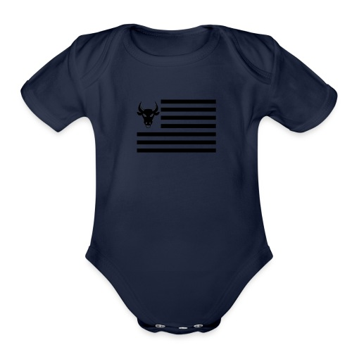 PivotBoss Flag Black - Organic Short Sleeve Baby Bodysuit