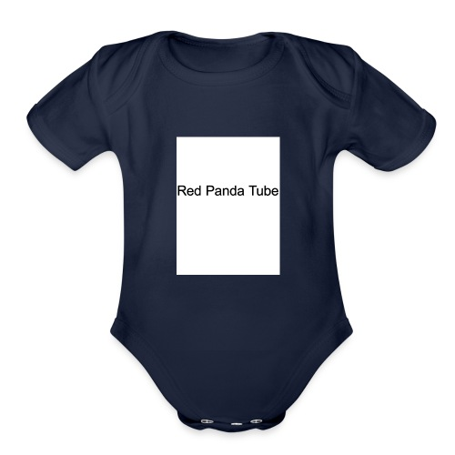 Red panda tube - Organic Short Sleeve Baby Bodysuit