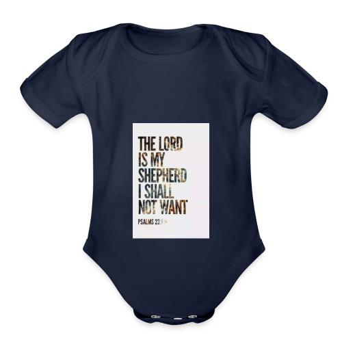 The Lord is my sheperd - Organic Short Sleeve Baby Bodysuit