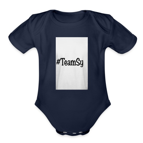 #TeamSy - Organic Short Sleeve Baby Bodysuit