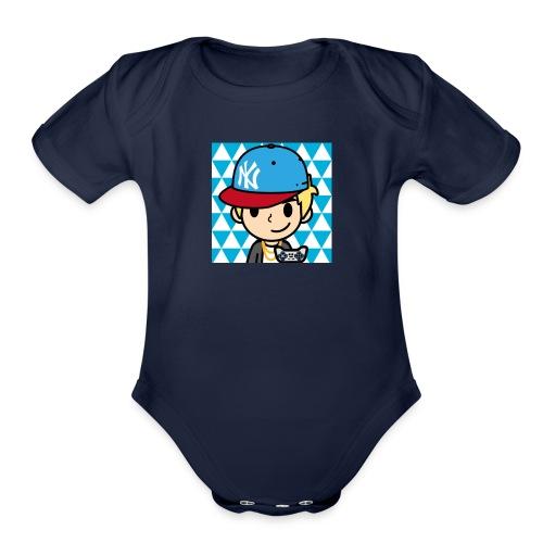 FaceQ1498685113923 1 - Organic Short Sleeve Baby Bodysuit