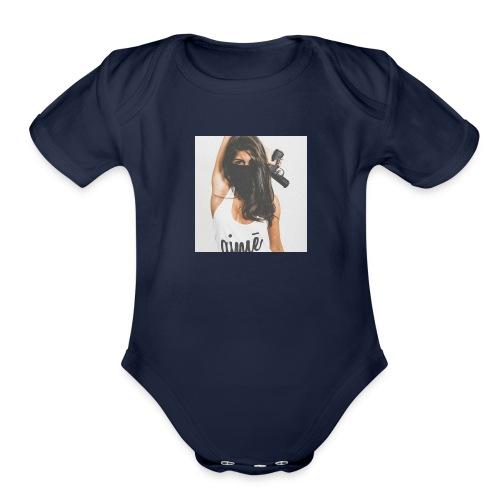 Deadly Woman LOGO - Organic Short Sleeve Baby Bodysuit
