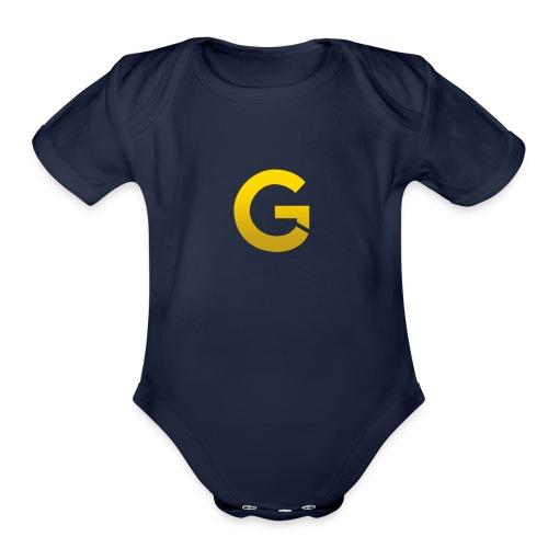 Goldencami s Gold G - Organic Short Sleeve Baby Bodysuit