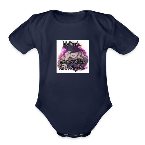 SOC MOB BAD CHICK - Organic Short Sleeve Baby Bodysuit