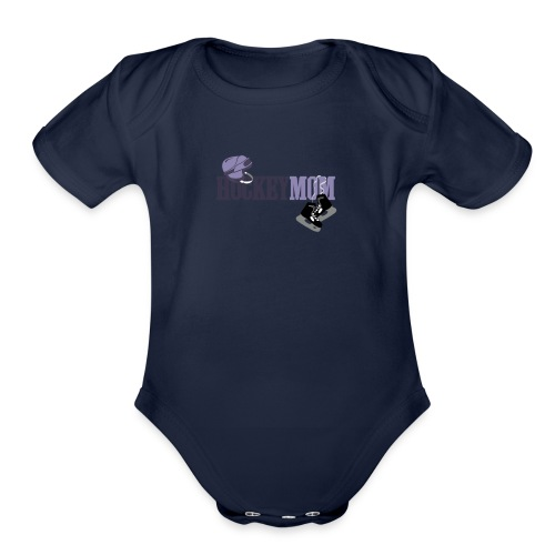 hoceky_mom_4 - Organic Short Sleeve Baby Bodysuit