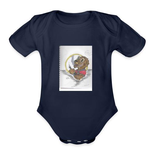 toker the gopher - Organic Short Sleeve Baby Bodysuit