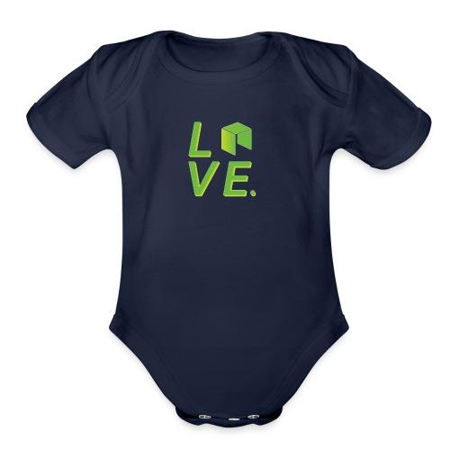 Neo Cryptocurrency logo - Organic Short Sleeve Baby Bodysuit