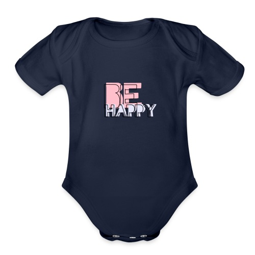 Happy Iphone Cover - Organic Short Sleeve Baby Bodysuit