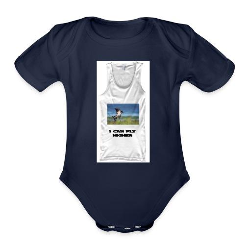 CAN FLY HIGHER TEESHIRT - Organic Short Sleeve Baby Bodysuit