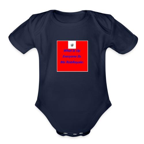 RobRoyale's First Shirt - Organic Short Sleeve Baby Bodysuit