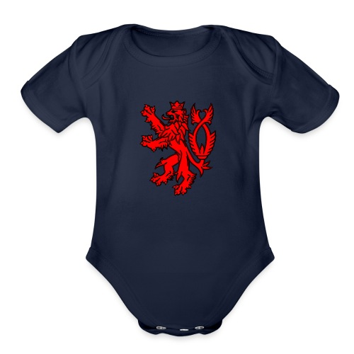 english lion oscarb apparel - Organic Short Sleeve Baby Bodysuit