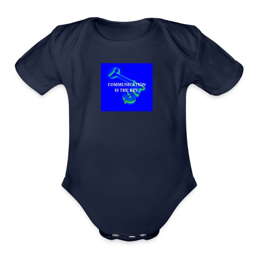 Communication - Organic Short Sleeve Baby Bodysuit