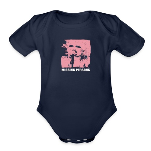 Words Missing Person - Organic Short Sleeve Baby Bodysuit