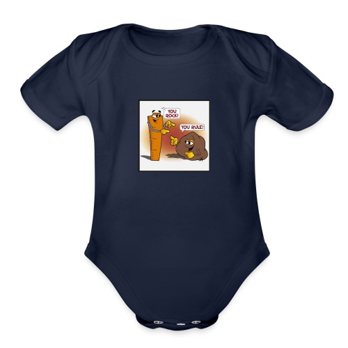 Rock And Ruler - Organic Short Sleeve Baby Bodysuit