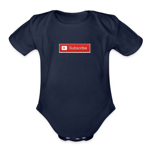 YOUTUBE SUBSCRIBE - Organic Short Sleeve Baby Bodysuit