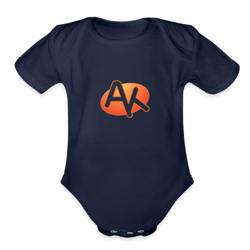 ak logo png shirt - Organic Short Sleeve Baby Bodysuit