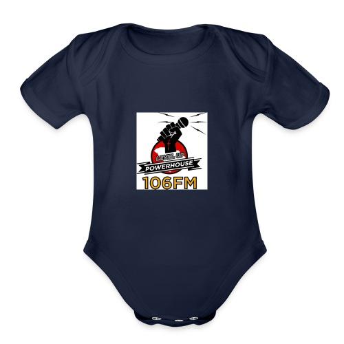 Level Up Logo - Organic Short Sleeve Baby Bodysuit