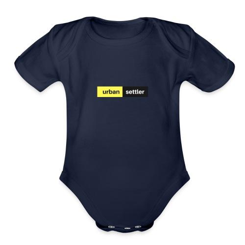 urban settler - Organic Short Sleeve Baby Bodysuit