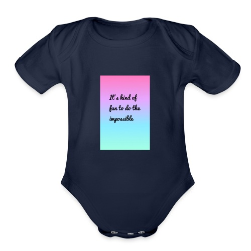 It's Kind Of Fun To Do The Impossible Ombré Shirt - Organic Short Sleeve Baby Bodysuit