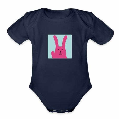 Craftholic Rabbit - Organic Short Sleeve Baby Bodysuit
