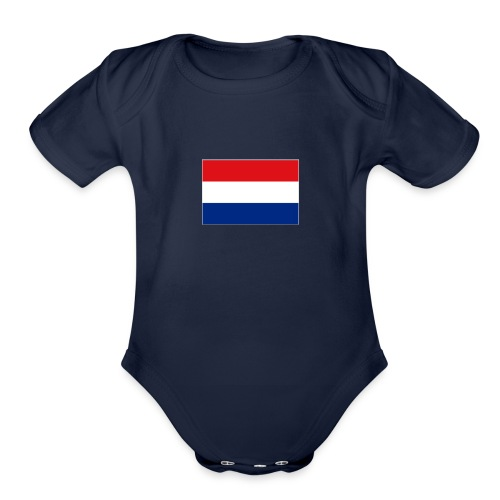 Dutch Flag - Organic Short Sleeve Baby Bodysuit