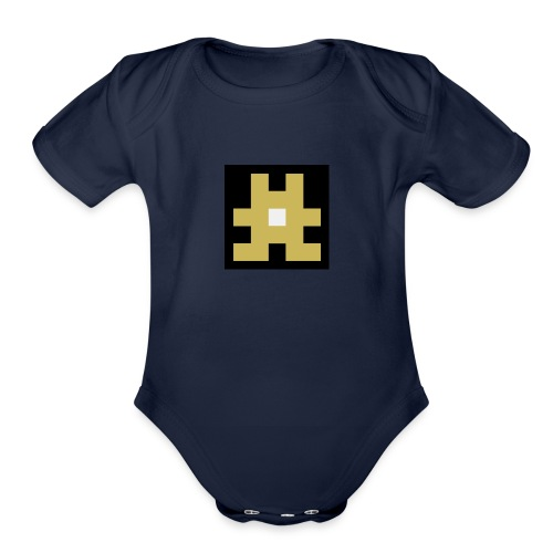 YELLOW hashtag - Organic Short Sleeve Baby Bodysuit