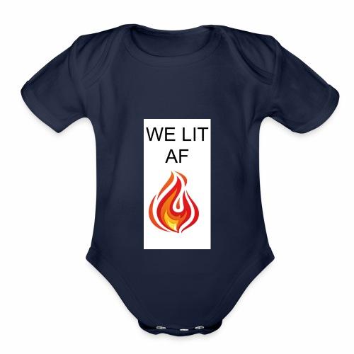 WE LIT AF BRAND - Organic Short Sleeve Baby Bodysuit