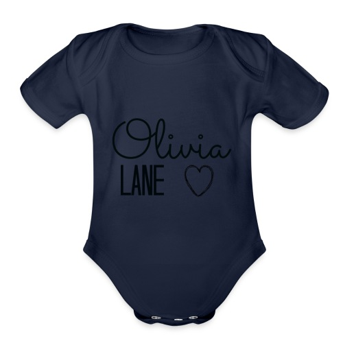 Olivia Lane Heart - Organic Short Sleeve Baby Bodysuit