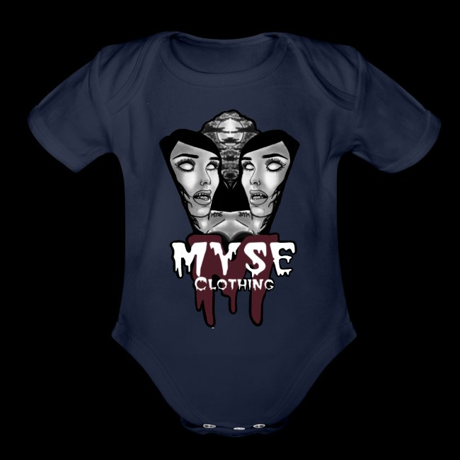 Myse clothing logo with vampire
