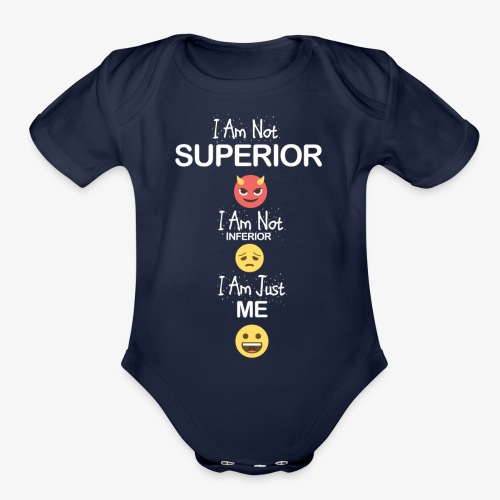 DGTO Graphic Tee I Am Just Me - Organic Short Sleeve Baby Bodysuit