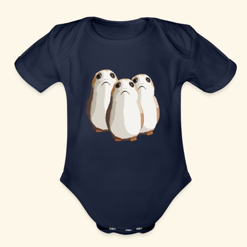 Chubby and adorable hamsters. - Organic Short Sleeve Baby Bodysuit