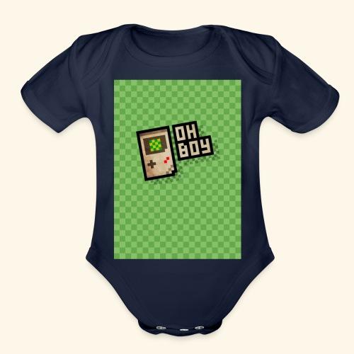oh boy handy - Organic Short Sleeve Baby Bodysuit