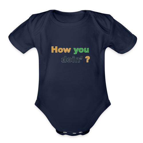 imageedit_9_9043873906 - Organic Short Sleeve Baby Bodysuit