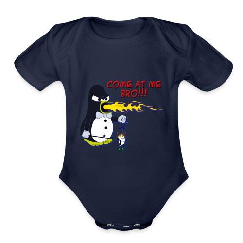 Guin - The P.O.'d Penguin - Organic Short Sleeve Baby Bodysuit