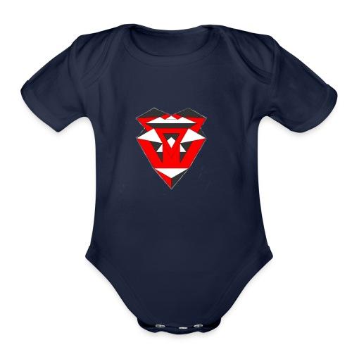IntricateLove Heart - Organic Short Sleeve Baby Bodysuit