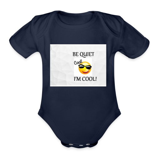 small be quiet - Organic Short Sleeve Baby Bodysuit