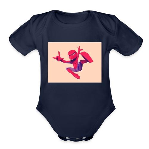 spiderman - Organic Short Sleeve Baby Bodysuit