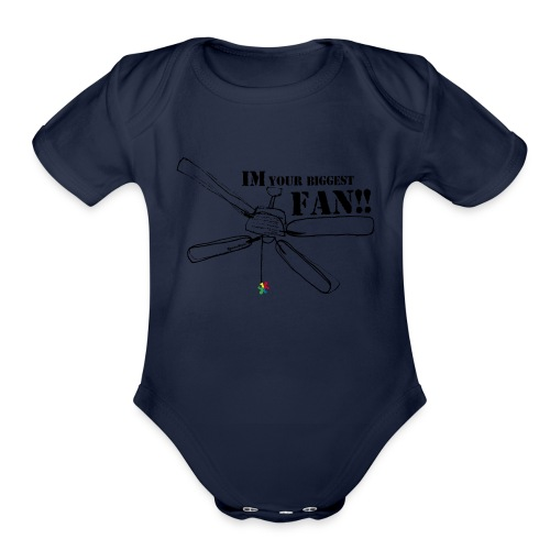 Puzzle Piece fan shirt - Organic Short Sleeve Baby Bodysuit