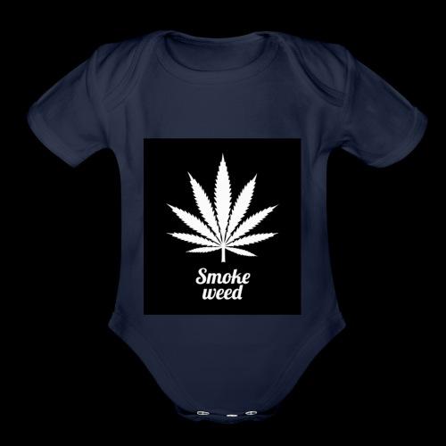 Legalize it - Organic Short Sleeve Baby Bodysuit
